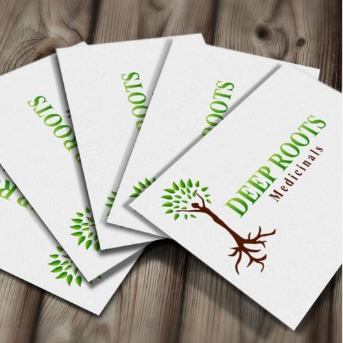 Business card for medicine logo
